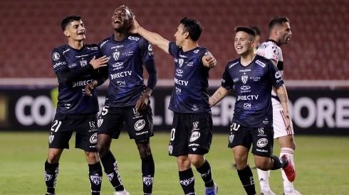 Beder Caicedo del Independiente del Valle festeja el gol  - (Franklin Jacome/Getty Images)-Not Released (NR)