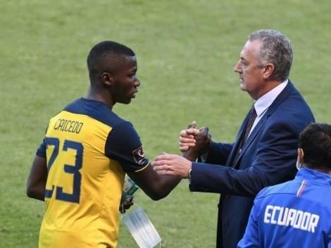El consejo de Gustavo Alfaro a Moisés Caicedo antes de enfrentar a Messi