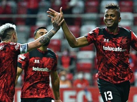 (Video) Mientras Boca lo busca, Michael Estrada convierte importante gol para Toluca