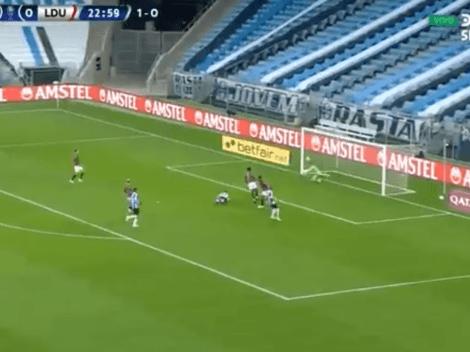 (VIDEO) El grosero error de Adrián Gabbarini en el 1-0 de Gremio frente a Liga de Quito