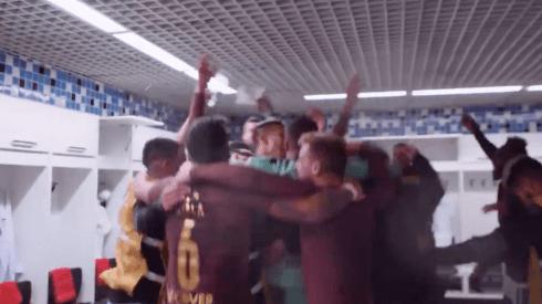 (VIDEO) Así fueron los festejos en el camerino de Liga de Quito tras vencer a Gremio