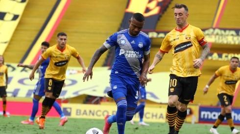 El último partido que jugó Damián Díaz en la LigaPro fue ante Emelec. Foto: API