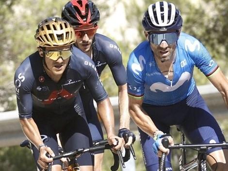 Richard Carapaz se ubica en el puesto 16 en la tabla general de la Vuelta a España