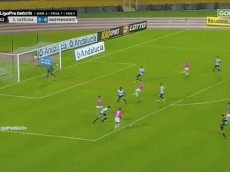 (VIDEO) ¿Qué vio el árbitro? Así fue el gol mal anulado a Independiente del Valle